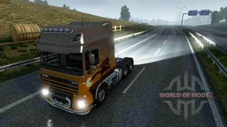 Задние противотуманные фары для Euro Truck Simulator 2