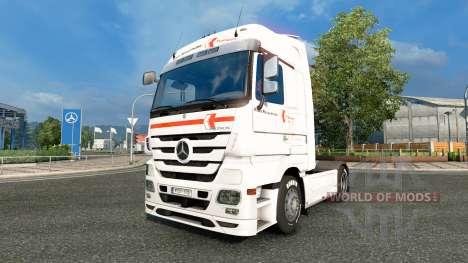 Скин Klaus Bosselmann на тягач Mercedes-Benz для Euro Truck Simulator 2