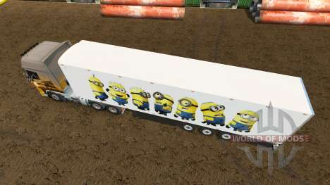 Скин Minion Fan на полуприцеп для Euro Truck Simulator 2