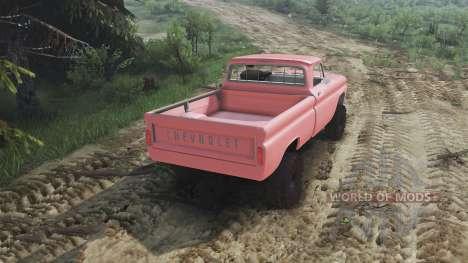 Chevrolet C30 1966 [brick red] v1.1 [16.12.15] для Spin Tires