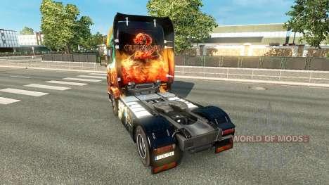 Скин Guild Wars 2 на тягач Scania для Euro Truck Simulator 2