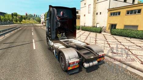 Скин Spiderman на тягач Volvo для Euro Truck Simulator 2