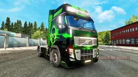 Скин Biohazard на тягач Volvo для Euro Truck Simulator 2