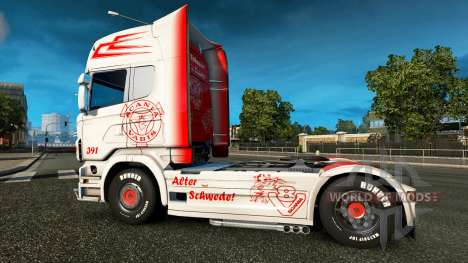 Скин Vabis на тягач Scania для Euro Truck Simulator 2