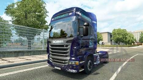 Скин Expendables на тягач Scania для Euro Truck Simulator 2