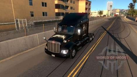 Skin Metallica for Peterbilt 579 для American Truck Simulator