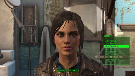 Azar Ponytail Hairstyles для Fallout 4