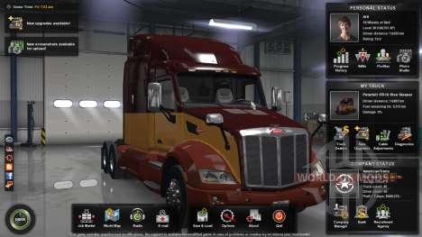 Максимальный уровень, деньги и открытая карта для American Truck Simulator