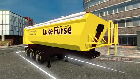 Скин Luke Furse на полуприцеп для Euro Truck Simulator 2