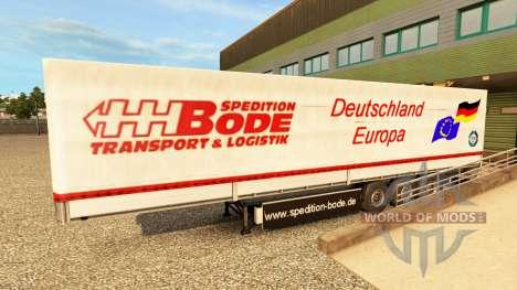 Скины на полуприцепы v2.0 для Euro Truck Simulator 2