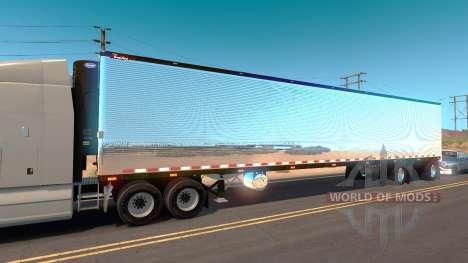 Хромированный полуприцеп для American Truck Simulator