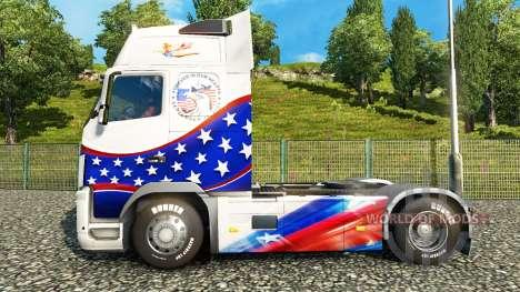 Скин Stars & Stripes на тягач Volvo для Euro Truck Simulator 2