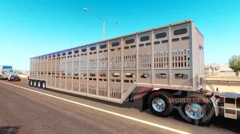 Полуприцеп скотовоз для American Truck Simulator