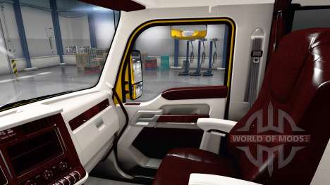 Белый интерьер в Kenworth T680 для American Truck Simulator