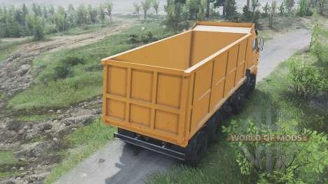КамАЗ-65201 [оранжевый][08.11.15] для Spin Tires