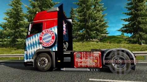 Скин FC Bayern Munchen на тягач Volvo для Euro Truck Simulator 2