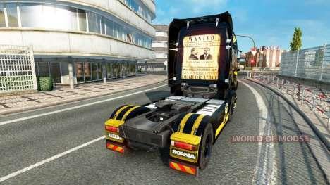 Скин Al Capone на тягач Scania для Euro Truck Simulator 2