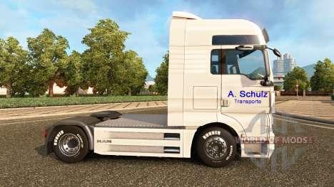 Скин A. Schulz на тягач MAN для Euro Truck Simulator 2