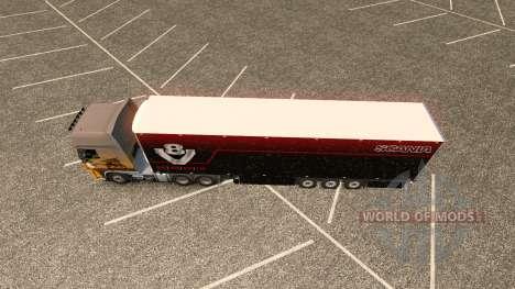 Скин V8 Scania Schmitz на полуприцеп для Euro Truck Simulator 2