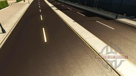 Тёмный асфальт для American Truck Simulator