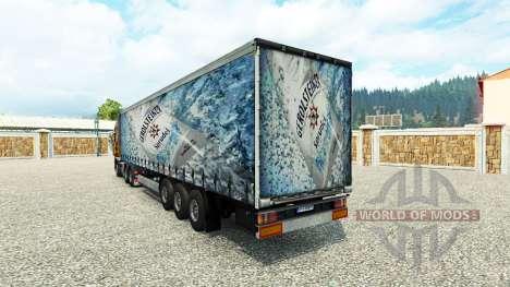 Скин Gerolsteiner на полуприцеп для Euro Truck Simulator 2