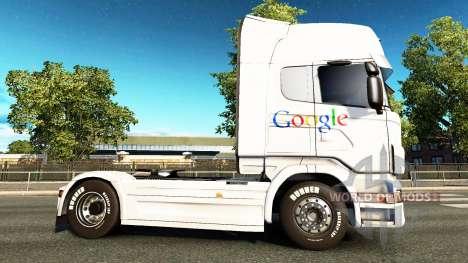 Скин Google на тягач Scania для Euro Truck Simulator 2
