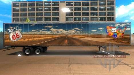 Route 66 Trailer для American Truck Simulator