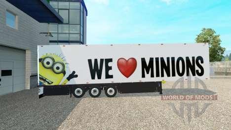 Скин Minion Fan v2.0 на полуприцеп для Euro Truck Simulator 2