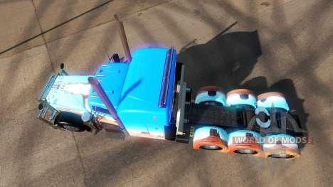 Скин Caveira на тягач Peterbilt 379 для American Truck Simulator