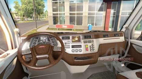 Новый окрас интерьера Peterbilt 579 для American Truck Simulator