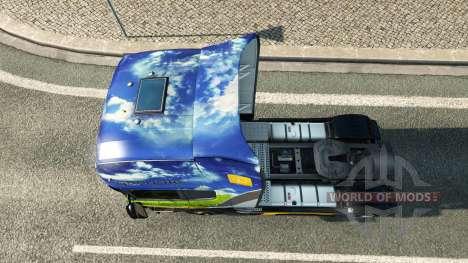 Скин Gasunie Transport на тягач Scania для Euro Truck Simulator 2