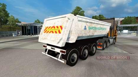 Скин Bardon Aggregates на полуприцеп для Euro Truck Simulator 2
