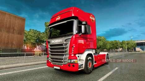Скин Coca-Cola на тягач Scania для Euro Truck Simulator 2