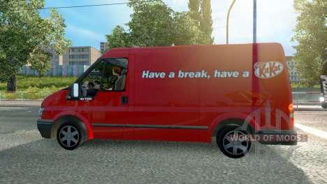Ford Transit KitKat для Euro Truck Simulator 2