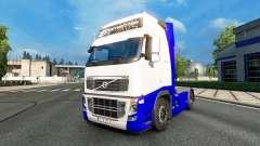 Скин Blue-White на тягач Volvo