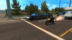 Мотоциклы среди трафика
