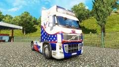 Скин Stars & Stripes на тягач Volvo
