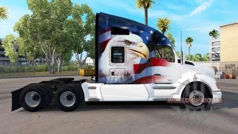 Скин U.S.A. Eagle на тягач Kenworth для American Truck Simulator