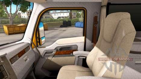 Светло-коричневый интерьер в Kenworth T680 для American Truck Simulator