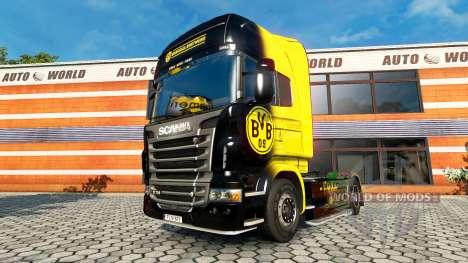Скин BvB на тягач Scania для Euro Truck Simulator 2