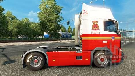 Скин FDNY 24 на тягач Volvo для Euro Truck Simulator 2