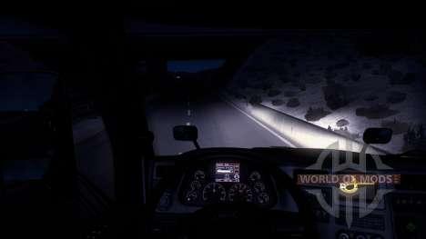 Зимний мод (Frosty Winter Weather Mod v1.0) для American Truck Simulator