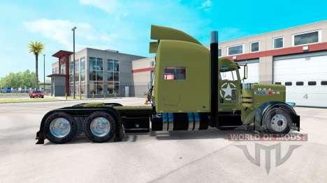 Скин USA Army на тягач Peterbilt 389 для American Truck Simulator