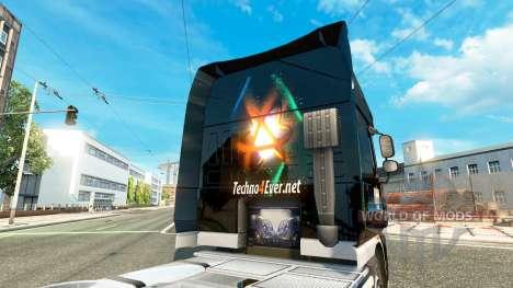 Скин Techno4ever на тягач DAF для Euro Truck Simulator 2