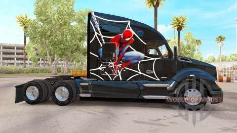 Скин Spiderman на тягач Kenworth для American Truck Simulator