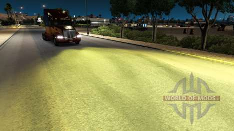Жёлтый свет v1.1 для American Truck Simulator