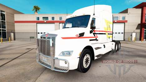 Скин Lines на тягач Peterbilt для American Truck Simulator