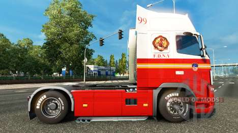 Скин FDNY 99 на тягач Volvo для Euro Truck Simulator 2