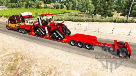 Низкорамный трал Case IH Quadtrac 600 для American Truck Simulator