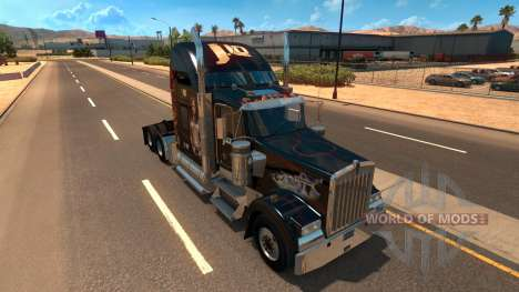 Kenworth W900 Jennifer Lopez Paint Skin для American Truck Simulator